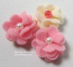 Tutorial Flores Feltro (2) | Gracinhas Artesanato