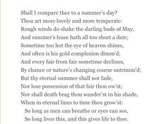 William Shakespeare , Sonnet 18