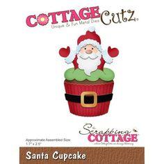Cottage Cutz Santa Cupcake - CC-351 - 9,90 EUR - Le fustelle Cottage Cutz sono facili da usare , sono in metallo universale con garanzia al 100% che siano compatibili con le seguenti macchine: Sizzix - BigShot, BigKick, Quickcutz. Può essere necessario aggiungere uno spessore sotto la piastra della ...