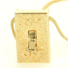 @funaek -- How weird is this?  Vintage 14 Karat Yellow Gold Diamond On Off Pendant Necklace