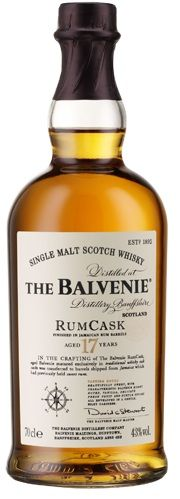The Balvenie Rum Cask 17 year Scotch Whiskey. Need more Whiskey aged in rum casks