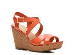 Kelly & Katie Marlene Wedge Sandal, super cute.  Not sure it would go with my skin tone, though.