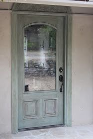 Salvaged Door - given a whole new look with ASCP and Waxes - via European Farmhouse Charm: My Recycled Front Door Makeover