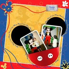 I love Mickey - MouseScrappers - Disney Scrapbooking Gallery