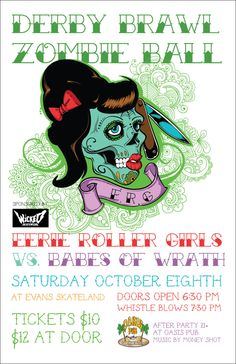 smashbandicute:    Eerie Roller Girls last bout of 2011! Spread the word!