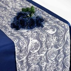 Choose from Tablecloths Factory's massive selection of Satin, Taffeta, Organza, or Lace Table Runners the one that suits your style best. Buy our Satin Wave Design Table Runners at discounted prices. Cheap Table Runners, Table Runner And Placemats, Lace Table Runners, Wedding Table, Diy Wedding, Reception Table, Wedding Tips, Silver Wedding Decorations