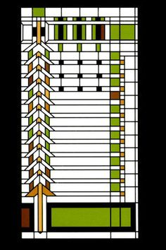 Frank Lloyd Wright Magnet - Martin House Window