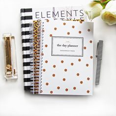 Personalized Day Planner  Gold Glitter Spot by LetterLoveDesigns