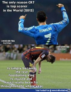 The only reason CR7 is top scorer this year because ...  http://www.trollfootball.me/display.php?id=15372  #football #soccer #CristianoRonaldo #Cr7 #Messi #LeoMessi