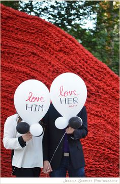 Engagement Photography with balloons, NYC, Madison Square Park Art, ORLY GENGER #engagement #weddingphotography #nyc #art