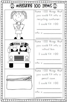 100th Day of School Worksheets - 100 Days of School PDF file    **** This download made the TOP 100 products list again this week!    This 40 page file full of worksheets for the 100th day of school celebrations will be ideal for grades 1-3. Make booklets for your students to work on leading up to the 100th day of school.    Your file focuses mainly on Math worksheets and some writing. $