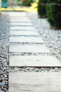DIY: Weg aus Waschbetonplatten | UPCYCLING | Kies | Weggestaltung