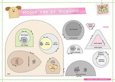 Mouse Pad de Bichinho (PAP com molde) * BoniFrati