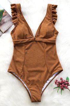 Cupshe Snug Feel Ruffles One-piece Swimsuit Cute Swimsuits, Women Swimsuits, Fashion Shopping Apps, Beach Attire, Summer Suits, One Piece Swimwear, One Piece Swimsuit Trendy, Beach Girls, Monokini