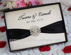 EA462 ---- 2013 Boxed Rhinestone Buckle Wedding Invitations