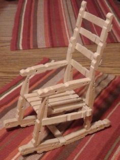 Clothes pin rocking chair ~ PawPaw Crowder, 1998