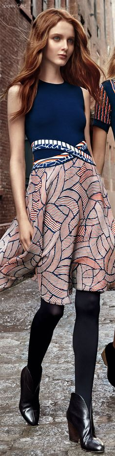 Diane von Furstenberg Pre Fall 2016 women fashion outfit clothing style apparel @roressclothes closet ideas