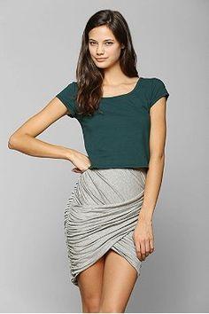 Sparkle & Fade Crossover Mini Skirt