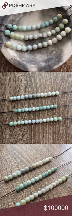 """🦄COMING SOON🦄 LIKE TO BE NOTIFIED- Amazonite Stone Chokers. Natural unpolished matte amazonite stone. Silver plated lobster clasp. Measures apx. 15"""" end to end. Simple Sanctuary Jewelry Necklaces"""