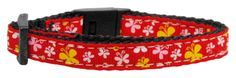 Cat Safety Collar - Butterfly Nylon Ribbon Cat Collar (5 Colors)