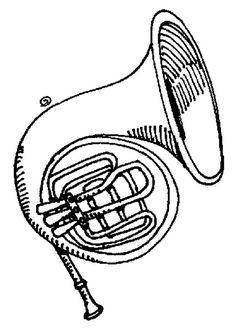 Imagens de instrumentos musicais para imprimir e colorir - Educação Online