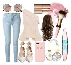 """""""blush"""" by babyshescountry ❤ liked on Polyvore featuring mode, Kate Spade, Gianvito Rossi, Frame Denim, C/MEO COLLECTIVE, Linda Farrow, NARS Cosmetics, Charlotte Tilbury, Maybelline en Pink"""