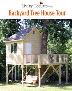 Backyard Tree House Tour via LivingLocurto.com@trixiehobbit