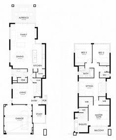 Planos de de casa de dos plantas
