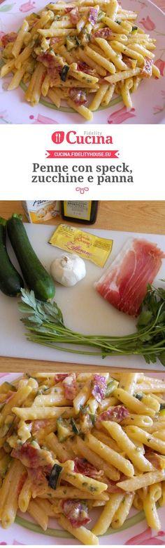 Penne con speck, zucchine e panna