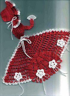 crinoline lady a crochet ile ilgili görsel sonucu Crochet Diy, Crochet Doily Patterns, Crochet Quilt, Crochet Girls, Crochet Home, Thread Crochet, Filet Crochet, Crochet Motif, Vintage Crochet