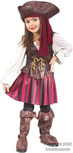 Child's Toddler High Seas Girls Pirate Costume « Delay Gifts