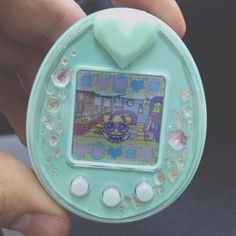 My very own pastel mint green Tamagotchi P'S