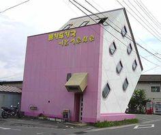 Japanese upside down house
