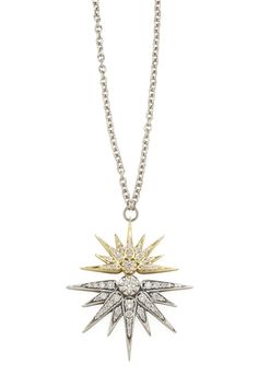 Genesis H.Stern collection. Eclipse pendant in yellow and Noble Gold with diamonds.