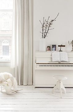cool white piano