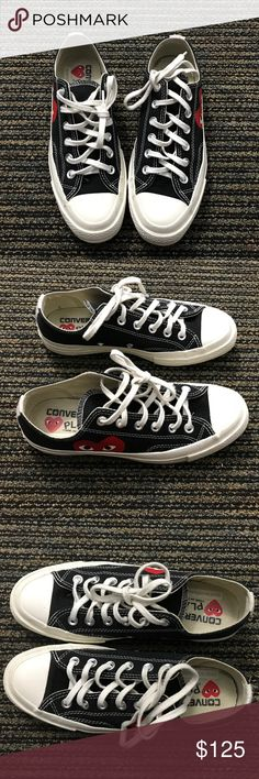 Converse Comme des Garcons black low top Like new condition. Very few minor  scuffs. Backordered everywhere. Will come with another CDG replacement box. 662e91ba8