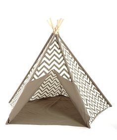 Look at this Gray Chevron Teepee on #zulily today!