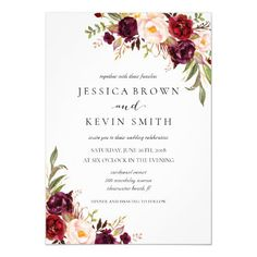 Rustic Floral Wedding Invitation-03 Invitation