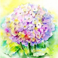 Hydrangea Greetings Card By Sheila Gill. | Greetings Cards | Prints | Gift Wrap