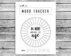 Monthly Mood Tracker Circle Happy Planner Mini Mood Chart