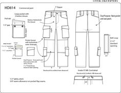 (t) Sewing pattern : Pants (DH814)