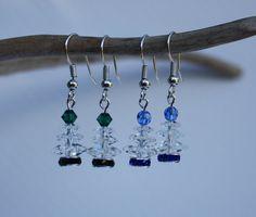 Christmas Tree Earrings Christmas Earrings by DRaeDesigns on Etsy