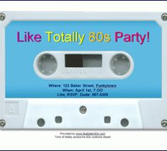 80s party invitation print from free online templates 80 s party