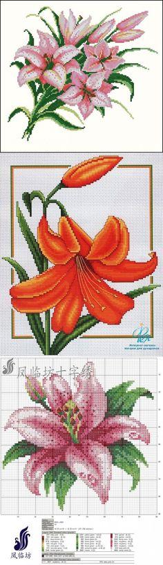 Схемы для вышивки: лилии / Схемы / Бусинка