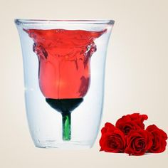 There's nothing more romantic than drinking from a rose glass with your special one. $12.50!!