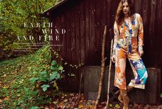 earth, wind and fire: barbara palvin by regan cameron for uk harper's bazaar march 2015