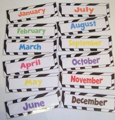 Free download: days of the week and months of the year for calendar.