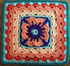 april dawn granny square- beautiful colors! 6 inches