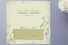 Gentle Fall Leaves Save the Date Cards by Jenifer Martino at minted.com
