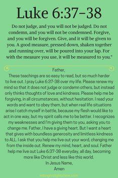 Luke – Letting His Light Shine Prayer Scriptures, Bible Prayers, Faith Prayer, God Prayer, Bible Verses Quotes, Faith Quotes, Bible Teachings, Faith Bible, Forgiveness Prayer
